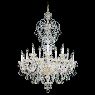 Olde World 23-Light Candle-Style Chandelier Crystal Type: Swarovski Elements Clear