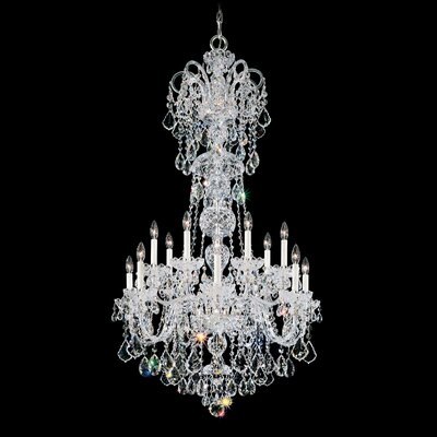 Olde World 14-Light Candle-Style Chandelier Color / Crystal Color: Silver / Strass Clear