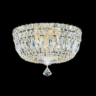 Petit 5-Light Flush Mount Finish: Aurelia, Crystal Type: Gemcut Clear