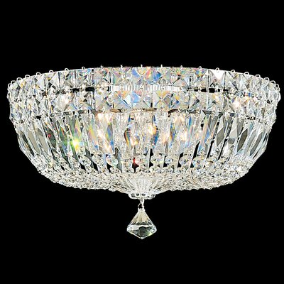 Petit 5-Light Flush Mount Finish: Aurelia, Crystal Type: Swarovski Elements Clear