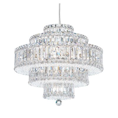 Image of Plaza 22 Light Drum Pendant Crystal Color: Strass Golden Shadow