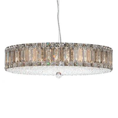 Plaza Drum Pendant Size / Crystal Color: 25 W x 25 D / Strass Silver Teak Image