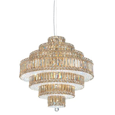 Plaza 25-Light Crystal Chandelier Crystal Color: Strass Clear
