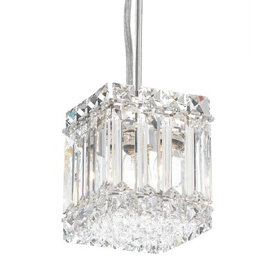 Quantum 2-Light Drum Pendant Height / Crystal Color: 5 / Strass Clear