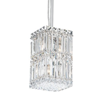 Quantum 2-Light LED Mini Pendant Height / Crystal Color: 25 / Strass Clear