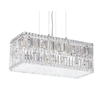 Quantum 33-Light Kitchen Island Pendant Height / Crystal Color: 13 / Swarovski Spectra