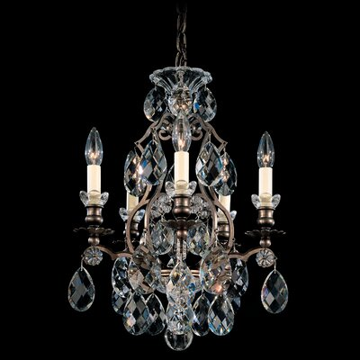 Renaissance 5-Light Candle-Style Chandelier Finish: French Gold, Crystal Type: Clear Crystals From Swarovski