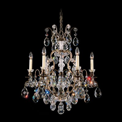New Orleans 45-Light Crystal Chandelier Finish: SILVER, Crystal Type: Swarovski Elements Golden Teak