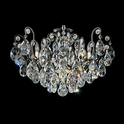 Renaissance 8-Light Semi Flush Mount Finish: French Gold, Crystal Type: Heritage Clear