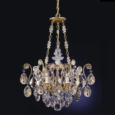 Renaissance 6-Light Crystal Chandelier Finish / Crystal Color: Antique Silver / Strass Golden Teak
