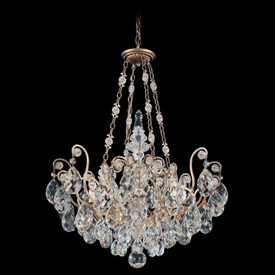 Renaissance 8-Light Crystal Chandelier Finish / Crystal Color: Antique Silver / Strass Golden Teak