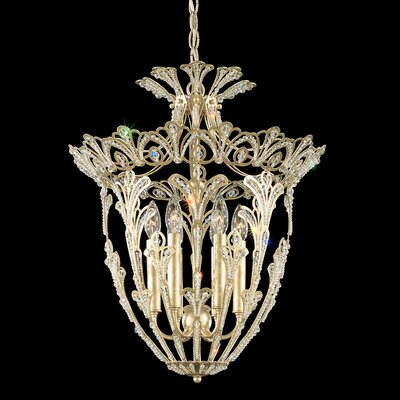 Rivendell 6-Light Foyer Pendant Finish: French Gold, Crystal: Swarovski Elements Clear