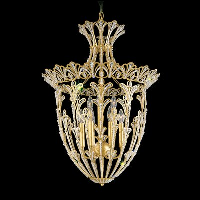 Rivendell 9-Light Foyer Pendant Finish: French Gold, Crystal: Swarovski Elements Clear