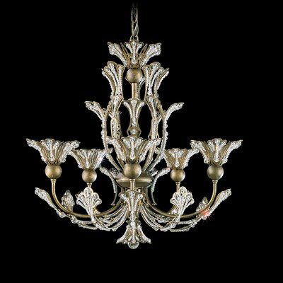 Rivendell 5-Light Crystal Chandelier Finish: Etruscan Gold, Crystal Color: Strass Clear