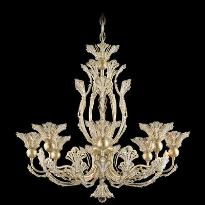 Rivendell 8-Light Crystal Chandelier Finish: Heirloom Gold, Crystal Color: Swarovski Spectra