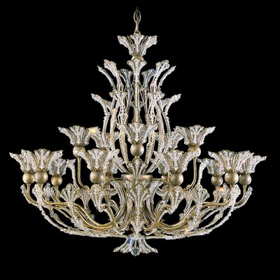 Rivendell 16 Light Chandelier Finish: Heirloom Gold, Crystal Color: Swarovski Spectra