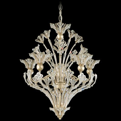 Rivendell 8-Light Pendant Finish: Antique Silver, Crystal Color: Swarovski Spectra