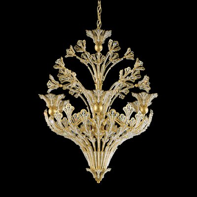 Image of Rivendell 12 Light Pendant Finish: Etruscan Gold Crystal Color: Strass Clear