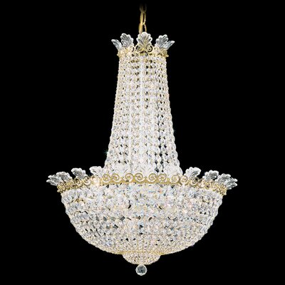 Roman 16-Light Empire Chandelier Finish: Antique Silver, Crystal Color: Strass Clear