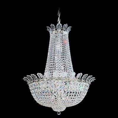 Roman 20-Light Empire Chandelier Finish: Antique Silver, Crystal Color: Strass Clear