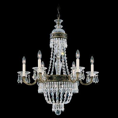 Image of Romanoff 6 Light Chandelier Color: Heirloom Gold