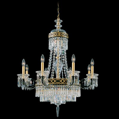 Romanoff 10 Light Chandelier Color: Heirloom silver Image