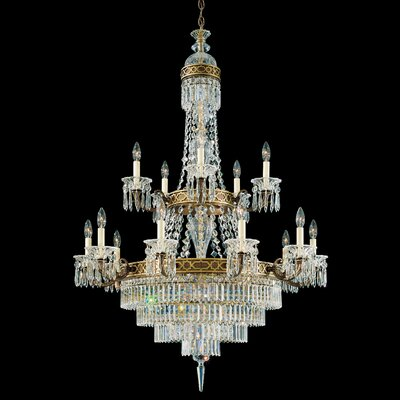 Image of Romanoff 20 Light Chandelier Color: Heirloom Bronze