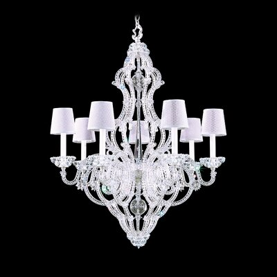 Scheherazade 7-Light Crystal Chandelier Color: Silver Leaf