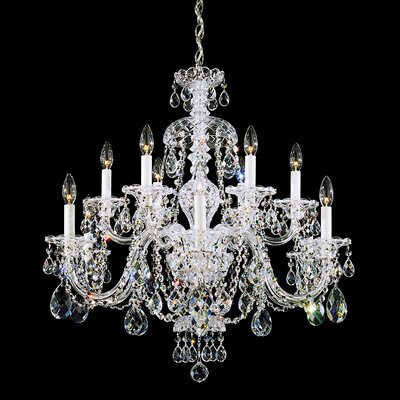 Sterling 12-Light Candle-Style Chandelier Crystal Type: Heritage Clear