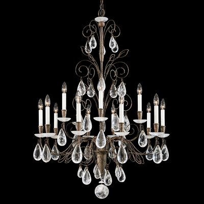 Image of Tesoro 15 Light Chandelier Color: Heirloom Silver