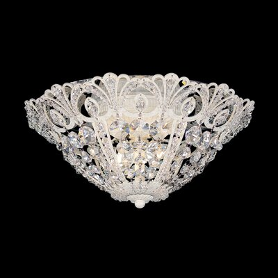 Tiara Flush Mount Size / Finish: 7 H x 18 W x 18 D / Heirloom Gold