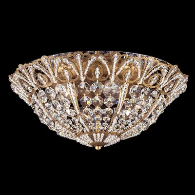 Tiara Flush Mount Size / Finish: 6 H x 15 W x 15 D / Heirloom Gold