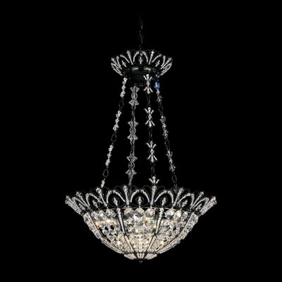 Tiara 4-Light Bowl Pendant Color: French Gold, Crystal Color: Spectra Crystal Clear