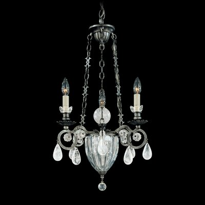 Vendome 4-Light Candle-Style Chandelier Finish: Antique Silver