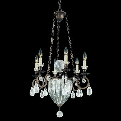 Vendome 8-Light Candle-Style Chandelier Finish: Antique Silver