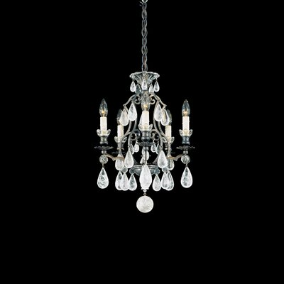 Versailles 5-Light Candle-Style Chandelier Finish: Antique Silver