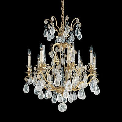 Versailles Rock Crystal 8-Light Crystal Chandelier Finish: Heirloom Gold