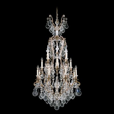 Versailles 16-Light Crystal Chandelier Finish: Heirloom Gold