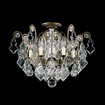 Versailles 6-Light Crystal Chandelier Finish: Antique Silver