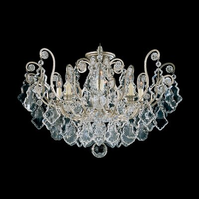 Versailles 8-Light Semi Flush Mount Finish: Antique Silver
