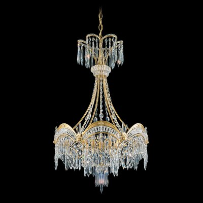 Image of Victorian 7 Light Foyer Pendant Color: Antique Silver