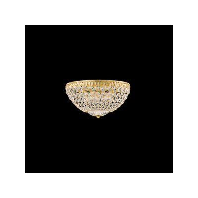 Petit Crystal Flush Mount in Heirloom Bronze with Swarovski Crystals Finish: Heirloom Bronze with Swarovski Crystals Size: 6.5 H x 12 W Image