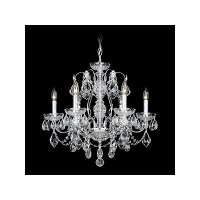 Century 6-Light Candle-Style Chandelier Finish: Wet Black