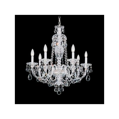 Sterling 7-Light Candle-Style Chandelier Crystal Type: Swarovski Elements Clear