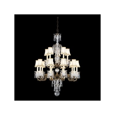 Renaissance 13-Light Shaded Chandelier Finish: French Gold, Crystal Type: Heritage Clear