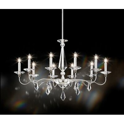 Geometrix 10-Light Candle-Style Chandelier
