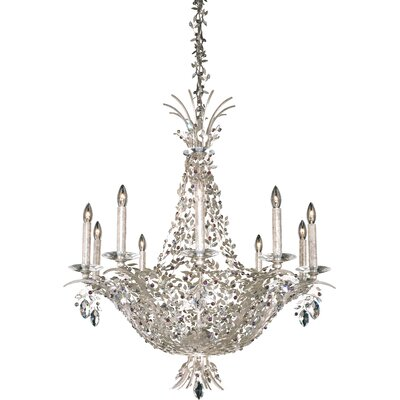 Amytis 10-Light Crystal Chandelier Finish: Antique Silver, Crystal Type: Swarovski Elements Thaw