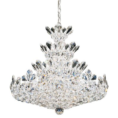 Trilliane LED Crystal Pendant Crystal Color: Strass Clear, Size: 27 H x 30 W x 30 D