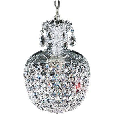 Olde World 3-Light LED Mini Pendant Crystal: Strass Clear, Size: 15 H x 10 W x 10 D