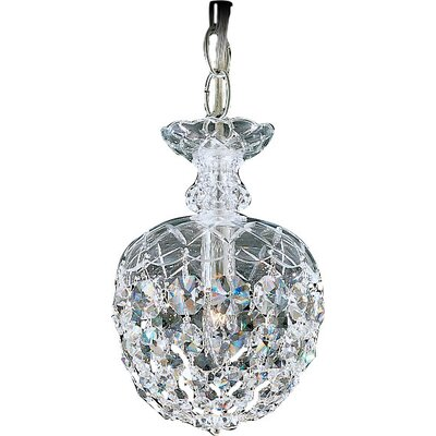 Olde World 1-Light LED Mini Pendant Crystal: Strass Clear